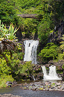 Waterfalls at Seven Sacred Pools, 'Ohe'o gulch, Haleakala National Park, Maui
