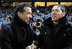 Getafe's coach Luis Garcia and Atletico de Madrid's Diego Simeone during King's Cup match. December 12, 2012. (ALTERPHOTOS/Alvaro Hernandez)