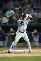 Brandon Wagner (33) of the Charleston RiverDogs at bat against the Columbia Fireflies at Spirit Communications Park on June 9, 2017 in Columbia, South Carolina.  The Fireflies defeated the RiverDogs 3-1.  (Brian Westerholt/Four Seam Images)