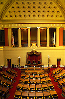 State House, State Capitol, Providence, Rhode Island, RI, The House of Representatives inside of The Rhode Island State House in the Capital City of Providence.