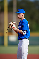 Tyler Brooks (63) of Alexandria, Virginia during the Baseball Factory Pirate City Christmas Camp & Tournament on December 29, 2018 at Pirate City in Bradenton, Florida. (Mike Janes/Four Seam Images)