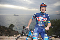 pre-2016 season portrait of Antoine Demoitié (BEL/Wanty-Groupe Gobert) who was involved in a serious crash during the 2016 Gent-Wevelgem where he got hit by a motorbike that couldn't avoid a collision.<br /> Demoitié's condition was that serious that he was taken to ICU/hospital where he eventually succumbed to his injuries. <br /> Antoine was 25 yrs old.<br /> <br /> Team Wanty-Groupe Gobert 2016 pre-season training camp<br /> Benidorm, Spain