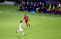 Carson, CA - Thursday August 03, 2017: Aya Sameshima, Casey Short during a 2017 Tournament of Nations match between the women's national teams of the United States (USA) and Japan (JAP) at StubHub Center.