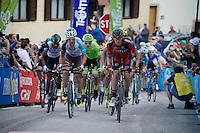 a first peloton up the very steep Fai Della Paganella climb (15%)<br /> <br /> stage 16: Bressanone/Brixen - Andalo 132km<br /> 99th Giro d'Italia 2016
