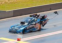 Jul 21, 2019; Morrison, CO, USA; NHRA funny car driver Shawn Langdon during the Mile High Nationals at Bandimere Speedway. Mandatory Credit: Mark J. Rebilas-USA TODAY Sports
