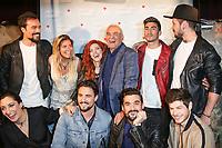 DAMIEN SARGUE, SOPHIE TAPIE, ANAIS DELVA, MICHEL FUGAIN, MICKAEL DOS SANTOS, ARCADIAN, VICTORIA, OLIVIER DION, FLORENT MOTHE - SHOWCASE 'CHANTE LA VIE CHANTE' AU DIVAN DU MONDE A PARIS, FRANCE, LE 10/05/2017.