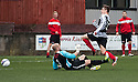 Shire's Jamie Glasgow scores their second goal.