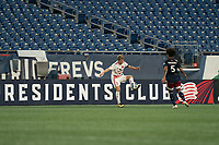 FOXBOROUGH, MA - AUGUST 21: Scott Thomsen #3 of Richmond Kickers traps the ball during a game between Richmond Kickers and New England Revolution II at Gillette Stadium on August 21, 2020 in Foxborough, Massachusetts.