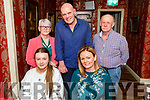 Enjoying the evening in Cassidys on Friday.<br /> Seated l to r: Grainne and Eris O'Carroll.<br /> Back l to r: Tom and Debbie Quirke and John Joe Sheehy.