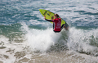 Huntington Beach, CA - Saturday August 05, 2017: Patrick Gudauskas during a World Surf League (WSL) Qualifying Series (QS) fifth round heat in the 2017 Vans US Open of Surfing on the South side of the Huntington Beach pier.