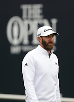 14th July 2021; The Royal St. George's Golf Club, Sandwich, Kent, England; The 149th Open Golf Championship, practice day; Dustin Johnson (USA) walks from the tee at the first hole