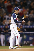 Shunsuke Watanabe of Japan during World Baseball Championship at Petco Park in San Diego,California on March 15, 2006. Photo by Larry Goren/Four Seam Images