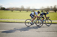 Michal Kwiatkowski (POL/SKY) & Peter Sagan (SVK/Tinkoff) force a decisive breakaway and will fight for victory at the finish line<br /> <br /> E3 - Harelbeke 2016