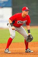 Orem Owlz third baseman Michael Snyder (29) on defense against the Ogden Raptors at Lindquist Field on July 29, 2012 in Ogden, Utah.  The Owlz defeated the Raptors 6-4.   (Brian Westerholt/Four Seam Images)