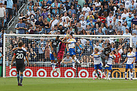 SAINT PAUL, MN - JULY 3: JT Marcinkowski #1 of the San Jose Earthquakes goes for the save during a game between San Jose Earthquakes and Minnesota United FC at Allianz Field on July 3, 2021 in Saint Paul, Minnesota.