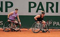 Paris, France, 7 june 2021, Tennis, French Open, Roland Garros,  Womans Wheelchair doubles final:  Dide de Groot (NED) and Aniek van Koot (NED) (R)<br /> Photo: tennisimages.com