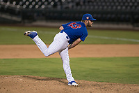 AZL Cubs 1 relief pitcher Corey Black (43) follows through on his delivery in a rehab assignment during an Arizona League game against the AZL Reds at Sloan Park on July 13, 2018 in Mesa, Arizona. The AZL Cubs 1 defeated the AZL Reds 4-1. (Zachary Lucy/Four Seam Images)