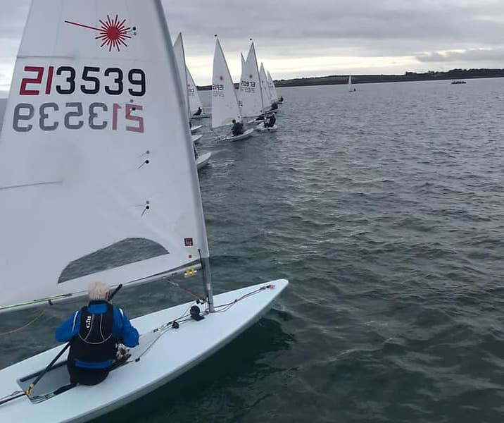 Charlie Taylor (213539) one of the early BYC Laser sailors
