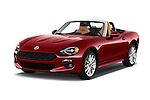 2018 Fiat 124-Spider 1.4-Lusso 2 Door Convertible Angular Front stock photos of front three quarter view