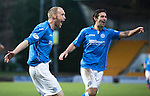 St Johnstone v Partick Thistle....17.01.15  SPFL<br /> Steven Anderson celebrates saints second goal with  Simon Lappin<br /> Picture by Graeme Hart.<br /> Copyright Perthshire Picture Agency<br /> Tel: 01738 623350  Mobile: 07990 594431