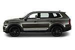 Car Driver side profile view of a 2022 KIA Telluride SX-AWD 5 Door suv Side View