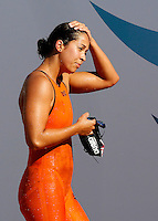 Trofeo Settecolli di nuoto al Foro Italico, Roma, 15 giugno 2013.<br /> Ranomi Kromowidjojo, of the Netherlands, leaves the pool after winning in the women's 50 meters butterflies at the Sevenhills swimming trophy in Rome, 15 June 2013.<br /> UPDATE IMAGES PRESS/Isabella Bonotto