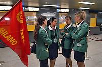 - trade union manifestation of Alitalia employees inside the air terminal of Milan Linate airport....- manifestazione sindacale di dipendenti Alitalia all'interno dell'aerostazione di Milano  Linate