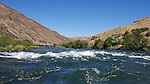 A small wave train on the Deschutes River.