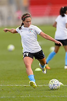 Chicago, IL - Sunday Sept. 04, 2016: Danielle Colaprico prior to a regular season National Women's Soccer League (NWSL) match between the Chicago Red Stars and Seattle Reign FC at Toyota Park.