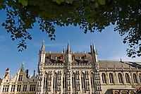 Belgium, Bruges, City Hall, Burg Square
