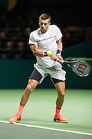 ABN AMRO World Tennis Tournament, Rotterdam, The Netherlands, 16 Februari, 2017, Borna Coric (CRO)<br /> Photo: Henk Koster