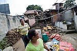 Residents in San Marcos show their home that was damaged after a 7.4 earthquake struck Guatemala.