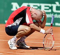 11-7-06,Scheveningen, Siemens Open, rirst round match, Peter Wessels gaat roemloos ten onder in de eerste ronde tegen Meffert