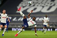 29th September 2020; Tottenham Hotspur Stadium, London, England; English Football League Cup, Carabao Cup, Tottenham Hotspur versus Chelsea; Serge Aurier of Tottenham Hotspur clears the ball