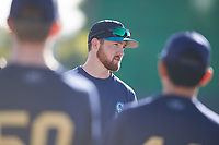 Zac Livingston coaches for the Padres during the Under Armour Baseball Factory Recruiting Classic at Gene Autry Park on December 27, 2017 in Mesa, Arizona. (Zachary Lucy/Four Seam Images)