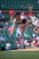 Scranton/Wilkes-Barre RailRiders pitcher Kaleb Ort (37) during an International League game against the Rochester Red Wings on June 25, 2019 at Frontier Field in Rochester, New York.  Rochester defeated Scranton 10-9.  (Mike Janes/Four Seam Images)