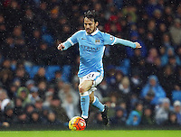 David Silva of Manchester City during the Barclays Premier League match between Manchester City and Swansea City played at the Etihad Stadium, Manchester on December 12th 2015