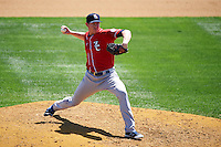 New Hampshire Fisher Cats relief pitcher Murphy Smith (19) during a game against the Reading Fightin Phils on June 6, 2016 at FirstEnergy Stadium in Reading, Pennsylvania.  Reading defeated New Hampshire 2-1.  (Mike Janes/Four Seam Images)
