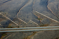 aerial photograph snow fences interstate I 80 southern Wyoming