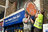 Replacing shop signage on Westbourne parade, Harrow Road.