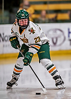 9 February 2018: University of Vermont Catamount Forward Alyssa Gorecki, a Junior from Monee, IL, in second period action against the University of Connecticut Huskies at Gutterson Fieldhouse in Burlington, Vermont. The Lady Cats defeated the Huskies 1-0 the first game of their weekend Hockey East series. Mandatory Credit: Ed Wolfstein Photo *** RAW (NEF) Image File Available ***