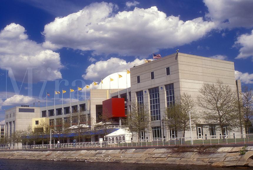 AJ1215, aquarium, Camden, New Jersey, Thomas H. Kean New Jersey State Aquarium at Camden on the Delaware River, New Jersey.