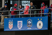 Columbus, Ohio - Thursday March 01, 2018: USA supporters during a 2018 SheBelieves Cup match between the women's national teams of the United States (USA) and Germany (GER) at MAPFRE Stadium.