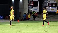 BARRANQUILLA-COLOMBIA, 20-09-2020: Jaider Obrian de Rionegro Aguilas Doradas, corre a celebrar el gol anotado a Atletico Junior, durante partido entre Atletico Junior y Rionegro Aguilas Doradas, de la fecha 9 por la Liga BetPlay DIMAYOR I 2020, jugado en el estadio Romelio Martinez de la ciudad de Barranquilla. / Jaider Obrian of Rionegro Aguilas Doradas, runs to celebrate the scored goal to Atletico Junior, during a match between Atletico Junior and Rionegro Aguilas Doradas of the 9th date for the BetPlay DIMAYOR I Leguaje 2020 played at the Romelio Martinez Stadium in Barranquilla city. / Photo: VizzorImage / Jairo Cassiani / Cont.