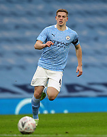 10th January 2021; Etihad Stadium, Manchester, Lancashire, England; English FA Cup Football, Manchester City versus Birmingham City; Liam Delap of Manchester City on as a sub, races after the ball