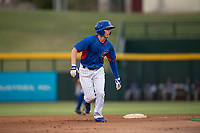 AZL Cubs 2 center fielder Cole Roederer (34) takes a lead off second base during an Arizona League game against the AZL Rangers at Sloan Park on July 7, 2018 in Mesa, Arizona. AZL Rangers defeated AZL Cubs 2 11-2. (Zachary Lucy/Four Seam Images)