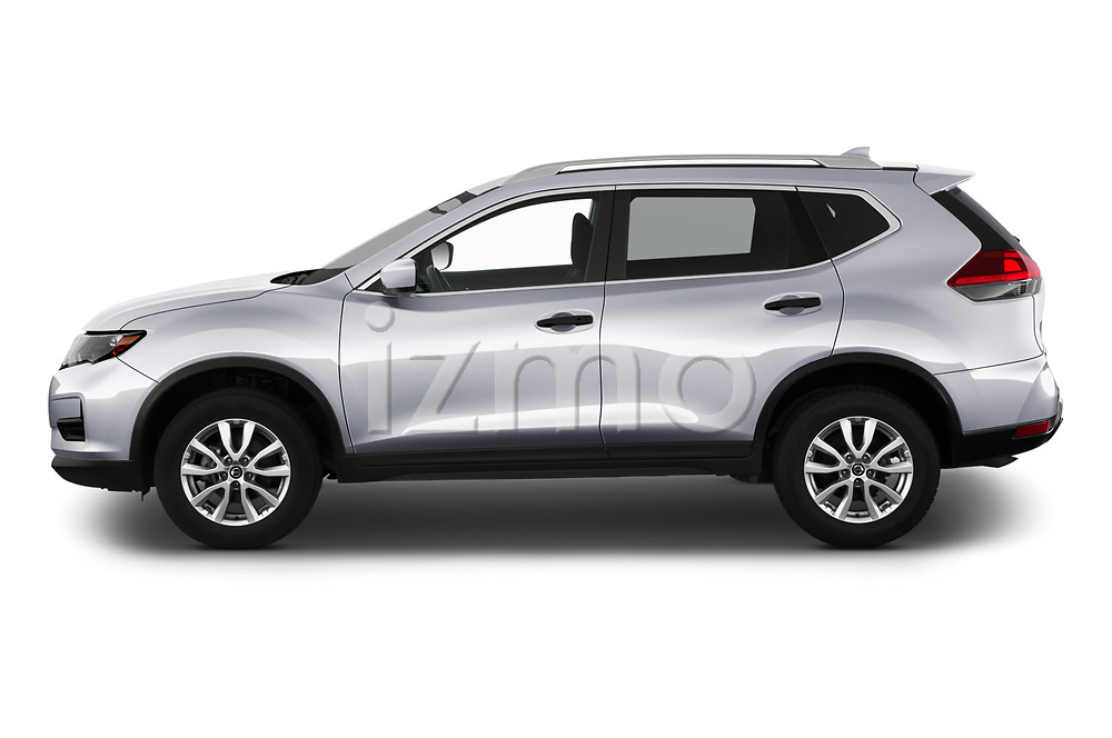 Car Driver side profile view of a 2020 Nissan Rogue S 5 Door SUV Side View