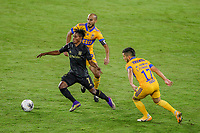 22nd December 2020, Orlando, Florida, USA;  LAFC Latif Blessing chases down the ball during the Concacaf Championship between LAFC and Tigres UANL on December 22, 2020, at Exploria Stadium in Orlando, FL.