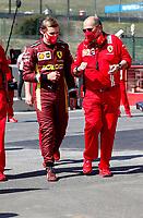 13th September 2020; Mugello race track, Scarperia e San Piero, Tuscany, Italy ; Formula 1 Grand Prix of Tuscany, Race Day; Mick Schumacher GER prepares to drive the Ferrari F2004 of his father Michael Schumacher