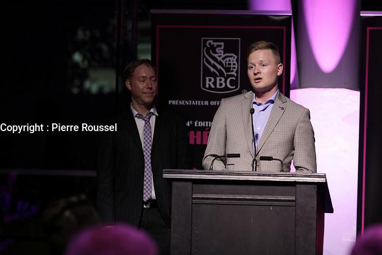 Olivier Pilon<br /> au Gala Phenicia 2018<br /> , le 31 mai 2018,a la Caisse de Depot et PLacements du Quebec.<br /> <br /> PHOTO : Agence Quebec Presse
